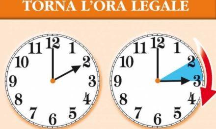 TORNA L'ORA SOLARE, LANCETTE INDIETRO DI 60 MINUTI