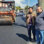 BRONTE : RIFATTO L'ASFALTO IN VIA MESSINA TRATTO INTERNO DELLA SS 284