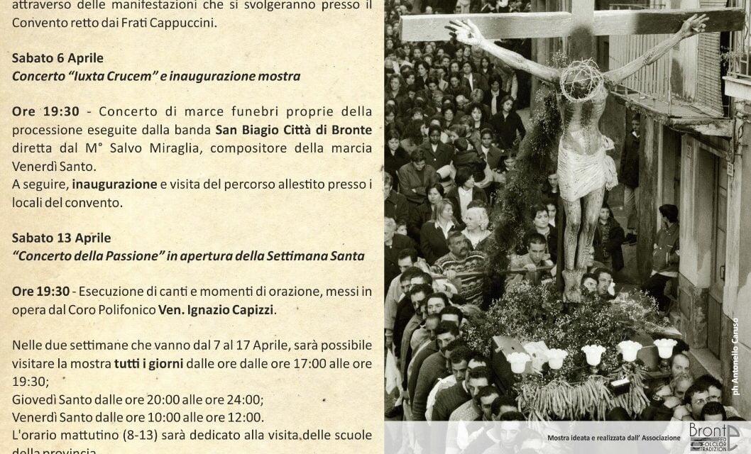 SETTIMANA SANTA A BRONTE: MOSTRA DEL PATRIMONIO POPOLARE DEL VENERDÌ SANTO