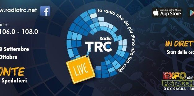 EXPO DEL PISTACCHIO DI BRONTE 2019, RADIO TRC OFFICIAL MEDIA PARTNER DELL'EVENTO