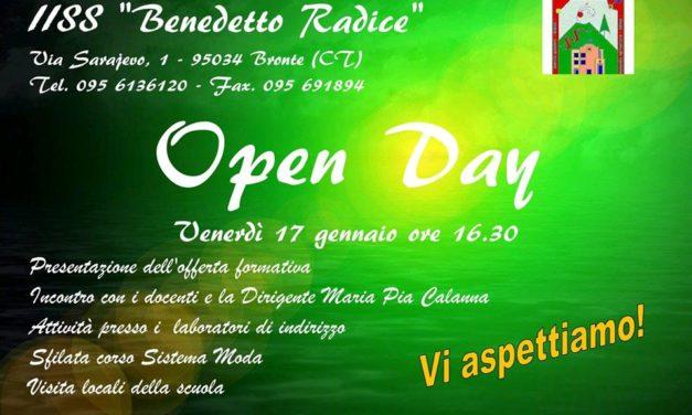 Bronte – Il 17 gennaio l'Open Day presso l'Istituto Benedetto Radice