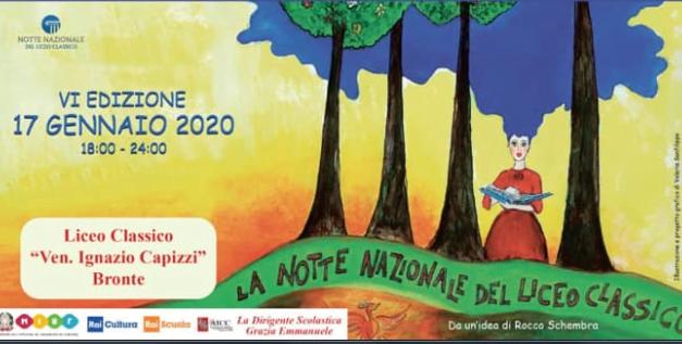 Notte Nazionale del Liceo Classico, VI edizione – Appuntamento nell'Aula Magna del Liceo Classico di Bronte