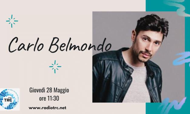 """L'ATTORE E CANTAUTORE CARLO BELMONDO PRESENTA A RADIO TRC """"PRENDI LA MIA MANO"""""""